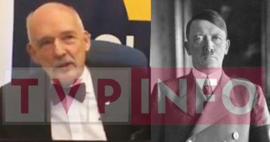 TVP Info po dwóch miesiącach znowu wspomniała o prawicy. Bo JKM powiedział o Hitlerze