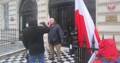 Polacy w Wielkiej Brytanii pamiętają o stanie wojennym (FOTO)